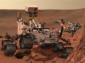 This artists rendering provided by NASA shows the Mars Rover, Curiosity. After traveling 8 1/2 months and 352 million miles, Curiosity will attempt a landing on Mars the night of Aug. 5, 2012