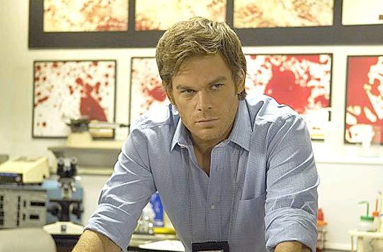 O ator Michael C. Hall, protagonista do seriado