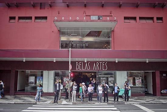 Fachada do Cine Belas Artes, localizado na rua da Consolação, em São Paulo