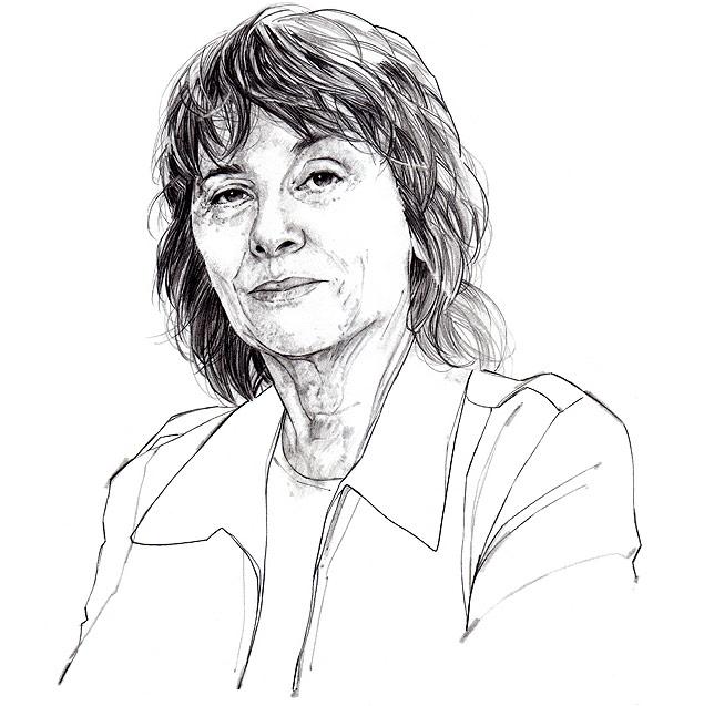 Ilustração da crítica e ensaísta americana Camille Paglia