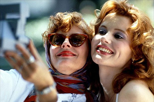 """Cinema: as atrizes Geena Davis e Susan Sarandon, em cena do filme """"Thelma & Louise"""". (Foto: Divulgação) ***DIREITOS RESERVADOS. NÃO PUBLICAR SEM AUTORIZAÇÃO DO DETENTOR DOS DIREITOS AUTORAIS E DE IMAGEM***"""