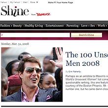 Shine, do Yahoo!, traz informações voltadas para o universo feminino