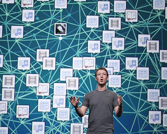 Mark Zuckerberg, executivo-chefe do Facebook, durante evento da empresa; linha do tempo atual é confusa para alguns usuários