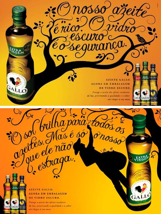 Anúncio polêmico do azeite Gallo; primeira peça diz