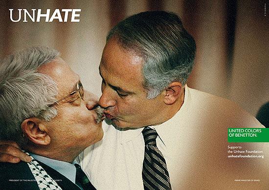 Mahmoud Abbas, líder palestino, à esquerda, e Benjamin Netanyahu, premiê israelense