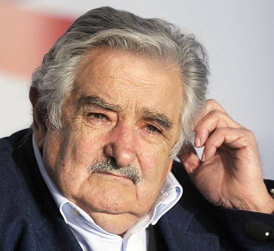 O presidente do Uruguai, José Mujica, durante coletiva de imprensa em 2011, na cidade de Montevidéu