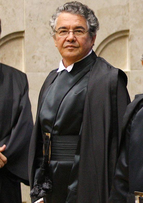 O ministro Marco Aurélio Mello no Supremo Tribunal Federal (STF), em Brasília
