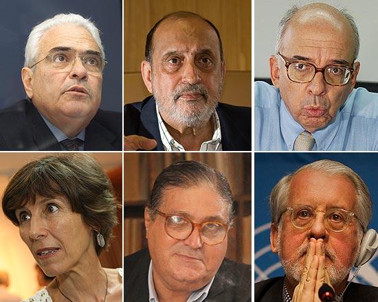 Em sentido anti-horário, José Carlos Dias, Gilson Dipp, Claudio Fonteneles, Maria Rita Kehl, José Paulo Cavalcanti Filho e Paulo Sérgio Pinheiro