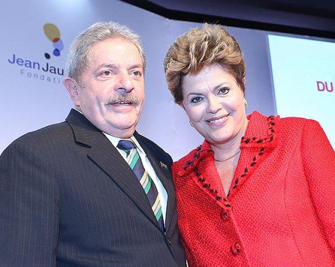 O ex-presidente Lula e a presidente Dilma