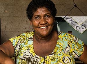 Antônia Pereira Galvão, 37, em sua casa na pequena cidade de Joaquim Pires, interior do Piauí