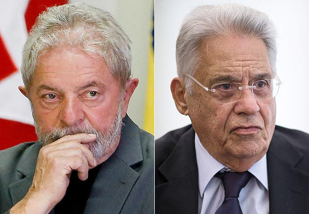 O ex-presidente Lula, do PT, e o ex-presidente Fernando Henrique, do PSDB