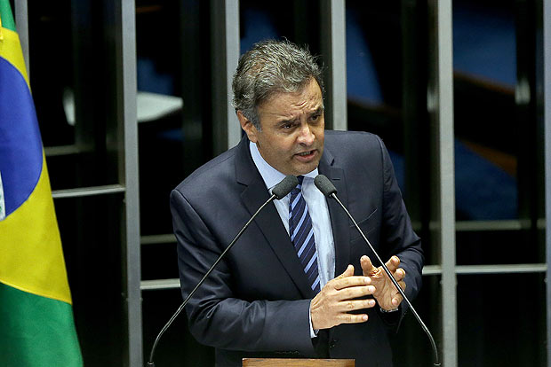 Senador Aécio Neves (PSDB-MG) discursa no plenário