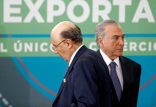 O ministro Henrique Meirelles (Fazenda) e o presidente Michel Temer