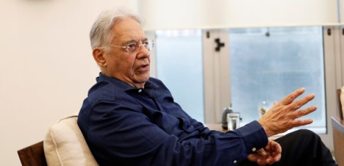 Brazil's former President Fernando Henrique Cardoso speaks during an interview with Reuters in Sao Paulo, Brazil, May 4, 2017. Picture taken May 4, 2017. REUTERS/Nacho Doce ORG XMIT: NAC04