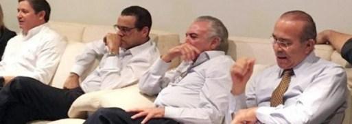 *** JABURU*** BRASILIA, DF, 17.04.2016, BRASIL, Palacio do Jaburu, residencia oficial do Vice-Presidente da Republica Michel Temer, o ex-ministro Henrique Alves assiste a votacao da Câmara dos Deputados sobre o destino de Dilma. Credito Divulgacao ***DIREITOS RESERVADOS. NÃO PUBLICAR SEM AUTORIZAÇÃO DO DETENTOR DOS DIREITOS AUTORAIS E DE IMAGEM***