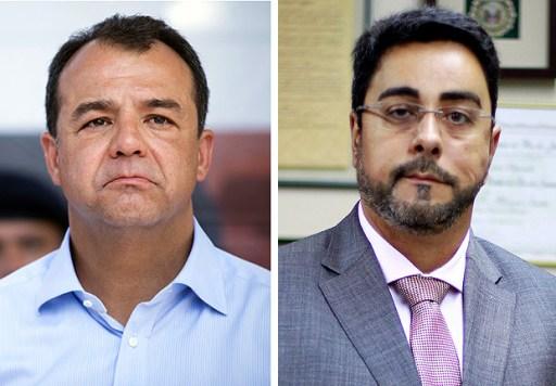 O ex-governador Sérgio Cabral e o juiz Marcelo Bretas