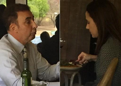 A advogada Fernanda Tórtima durante almoço com o procurador Sidney Pessoa Madruga, em Brasília