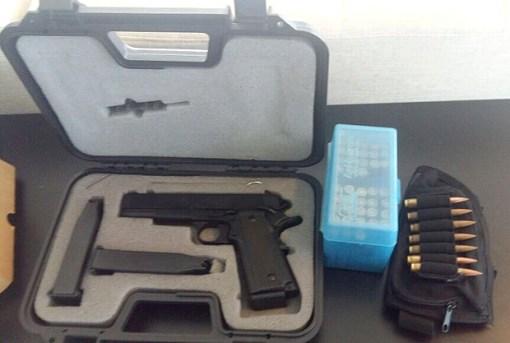 Armas encontradas com o genro de Romero Jucá