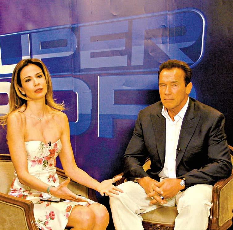 "HASTA LA VISTA Em recente visita ao Brasil, Arnold Schwarzenegger concedeu entrevista a Luciana Gimenez para o ""Superpop"" (RedetV!), que vai ao ar amanhã"