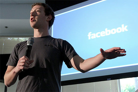 Mark Zuckerberg, executivo-chefe do Facebook, em evento na sede da empresa em 2011