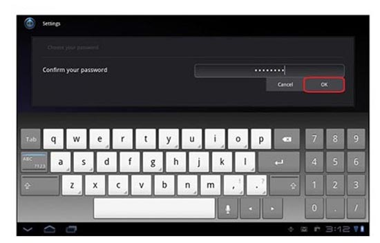 Sistema Android 2.3 modificado para tablets da Sony, com teclado numérico lateral