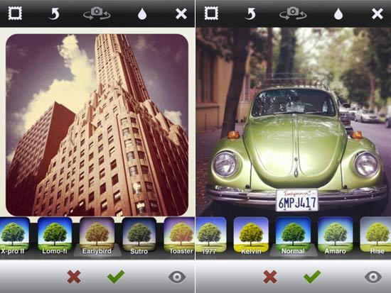 Tela do Instagram, aplicativo de fotografia para iOS e Android