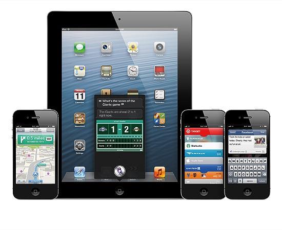Imagens do iOS 6, novo sistema para dispositivos móveis da Apple; novidades incluem integração ao Facebook