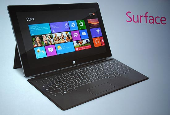 O Surface, tablet da Microsoft
