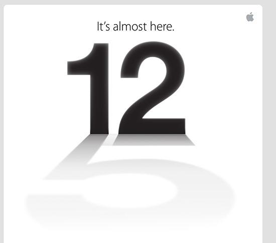 Reprodução do convite enviado pela Apple à imprensa; número cinco pode referir-se ao nome do novo iPhone