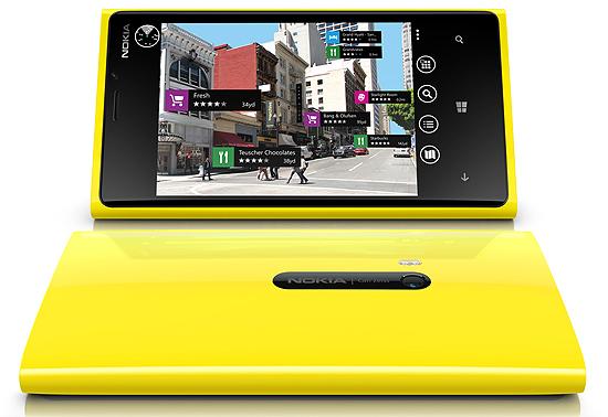 Imagem demonstra o aplicativo de realidade aumentada Nokia City Lens