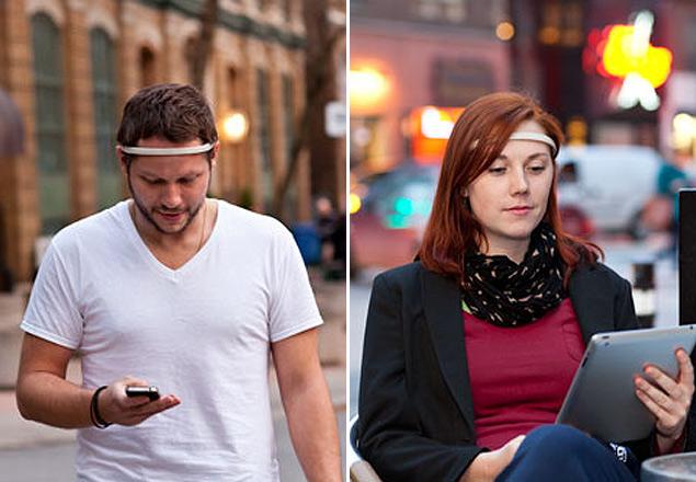 O Muse, bandana leve e sem fio, pode interagir com computadores, iPads e smartphones com o poder da mente