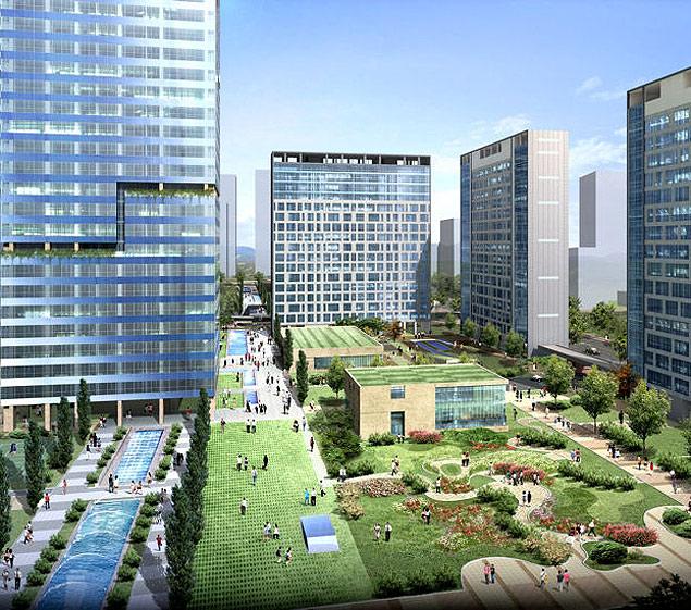 Songdo é cidade planejada, do zero, como uma smart city