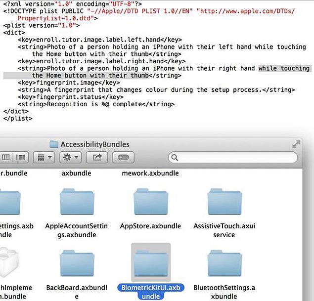 Linhas de código descrevem funcionamento de sensor biométrico no iPhone, segundo usuário