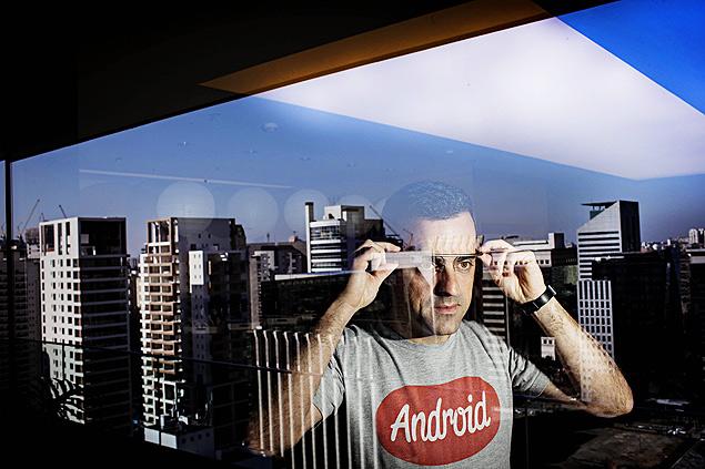 Hugo Barra, vice-presidente de produtos do Android no Google, no escritório da empresa em São Paulo