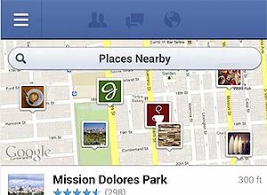 Imagem do aplicativo para Android do Facebook