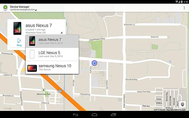 Gerenciador de dispositivos Android, app do Google para localizar smartphones e tablets com Android perdidos ou roubados