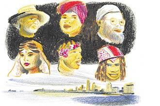 Representação das etnias bosotho (alto à esq.), xhosa, cape malay, indiana, zulu e ndebele; tradutor do Google ganha mais 295 línguas