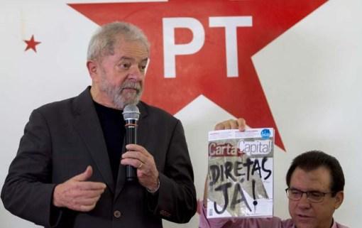 SÃO BERNARDO (SP), 20.05.2017 - O ex-presidente Lula participa hoje (20), da posse do diretório municipal de São Bernardo do Campo. Foto: Marcelo Gonçalves/Sigmapress/Folhapress