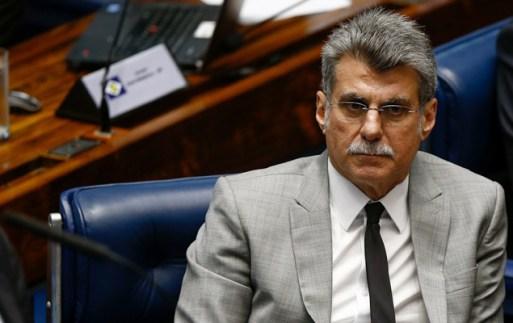 O senador Romero Jucá (PMDB-RR) durante sessão plenária do Senado Federal, em Brasília (DF). Filhos do parlamentar foram alvos hoje da Operação Anel de Giges, da Polícia Federal