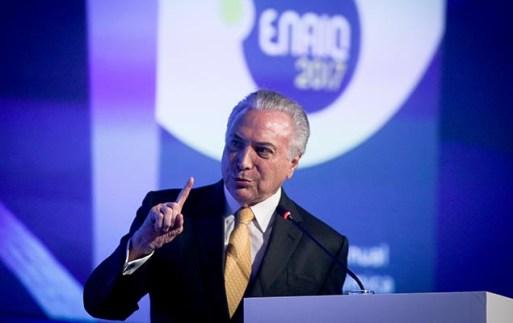 O presidente Michel Temer (PMDB) participa do 22º Encontro Anual da Indústria Química, em São Paulo, na manhã desta sexta