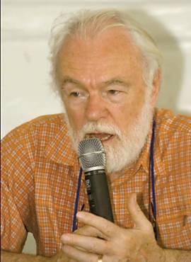 Harvey durante debate no Fórum Social Mundial, em 2009