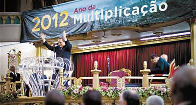 Culto do pastor Abner Ferreira, da Assembleia de Deus em Madureira, no Rio