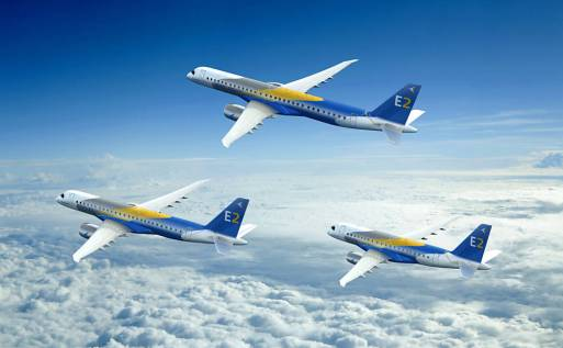 Embraer anuncia nova linha de jatos comerciais