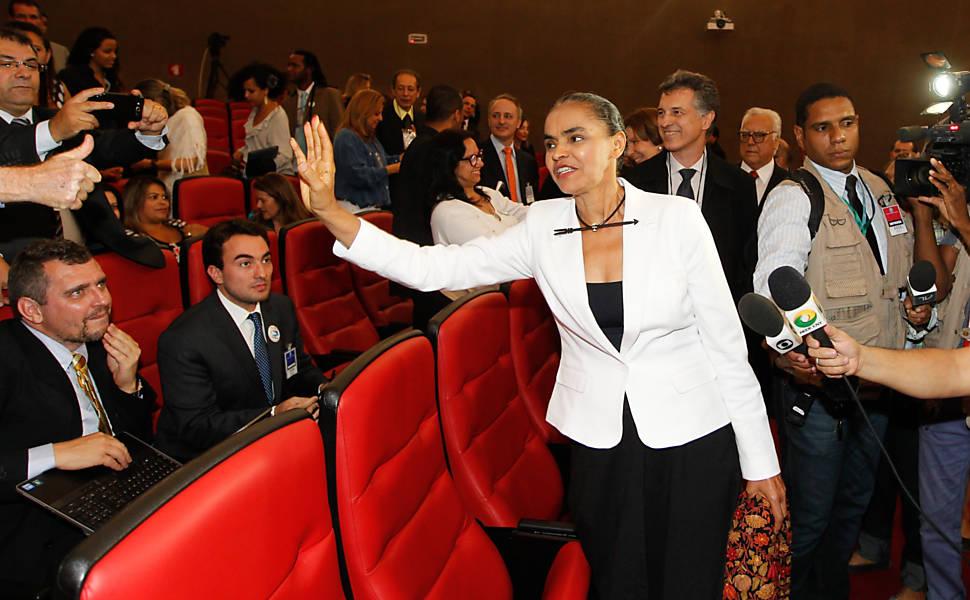 Marina Silva chega ao TSE para acompanhar sessão que define o registro do Rede Sustentabilidade