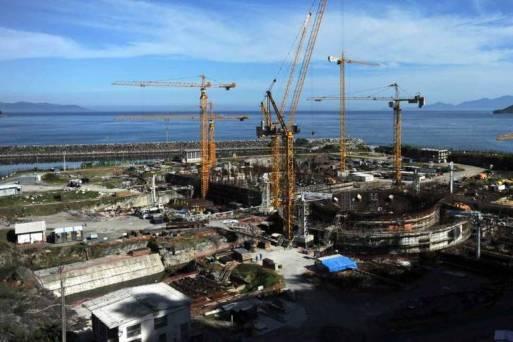 Obras da usina de Angra 3, no Rio
