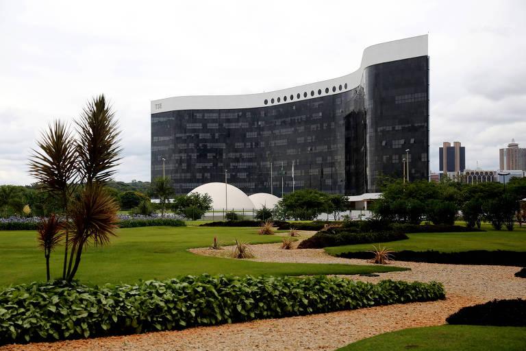 Vista do Tribunal Superior Eleitoral (TSE), em Brasília (DF)