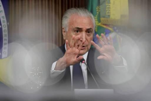 O presidente Michel Temer durante cerimônia em Brasília