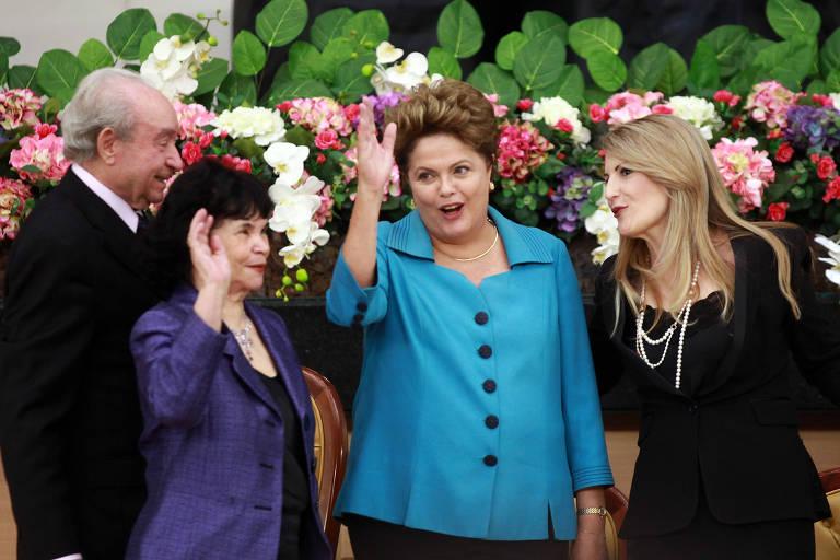 A então presidente e candidata à reeleição Dilma Rousseff (PT) na Assembléia de Deus - Ministério Madureira, durante a campanha de 2014