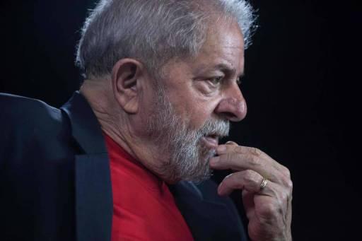 O ex-presidente Lula durante entrevista à AFP
