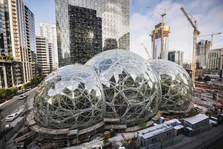Esferas da Amazon viram ponto turístico em Seattle - 23/06/2018 - Mercado - Folha